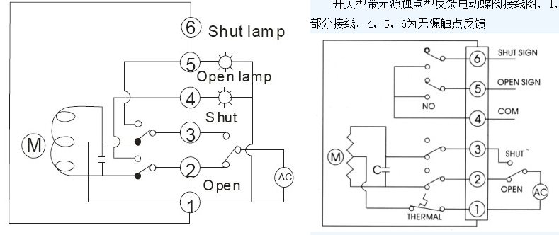 气动调节阀的控制接线和电源接线