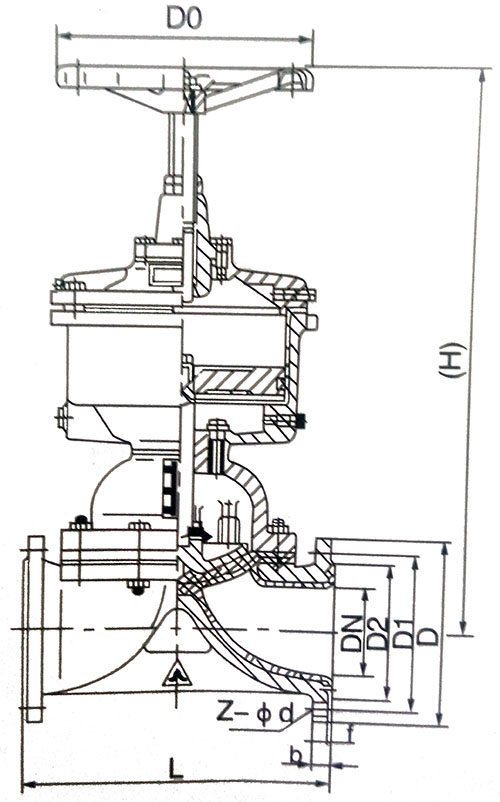气动隔膜阀结构示意图